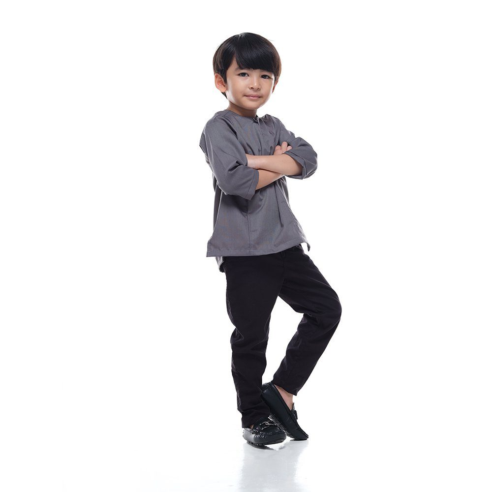 Kurta Falique KidsIRON GREY 1a Rijal & Co