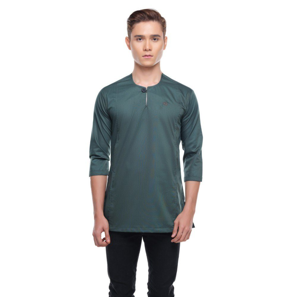 Kurta Falique SANGRIA GREEN 1 Rijal & Co