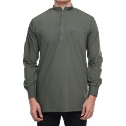 Kurta Khalique ARMY GREEN 1 Rijal & Co