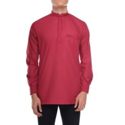 Kurta Khalique BRICK RED 1 Rijal & Co