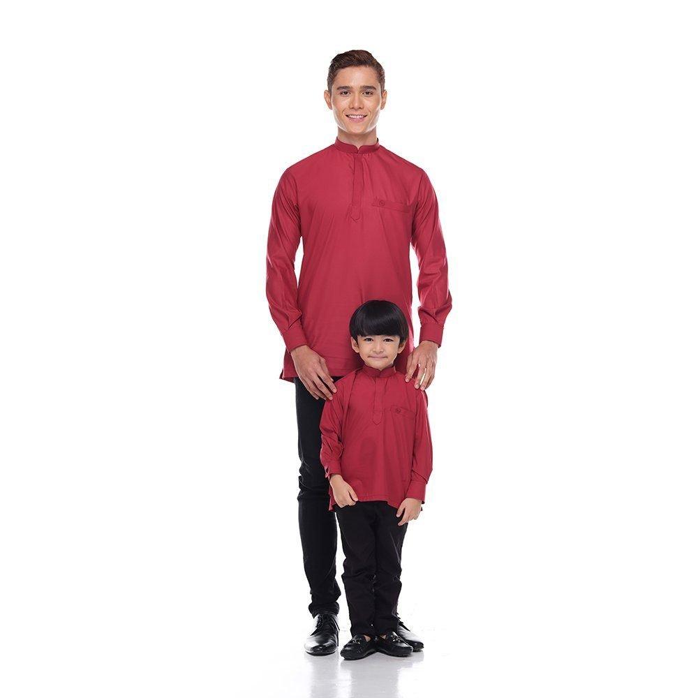Kurta Khalique Kids BRICK RED 5 Rijal & Co