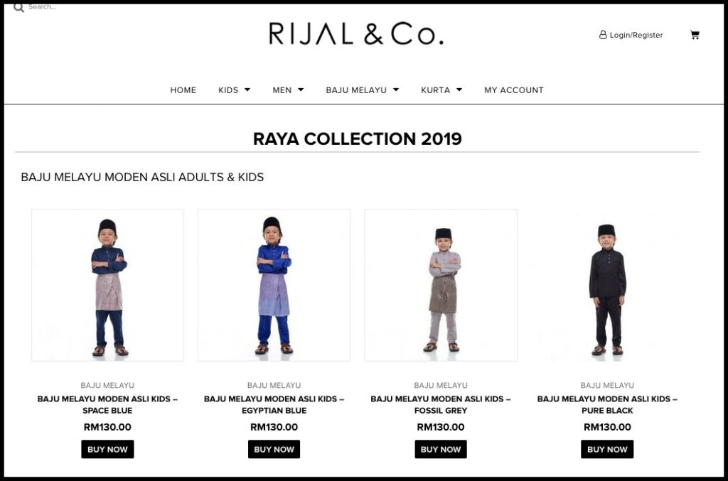 Rijal&co How to order - choose product 1